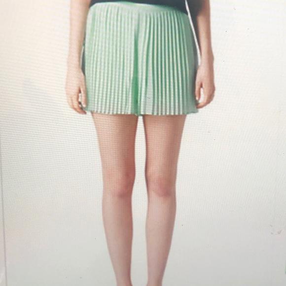 Topshop Pants - Topshop mint green pleated short . Size S